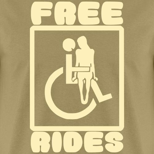 Free rides, wheelchair humor - Men's T-Shirt