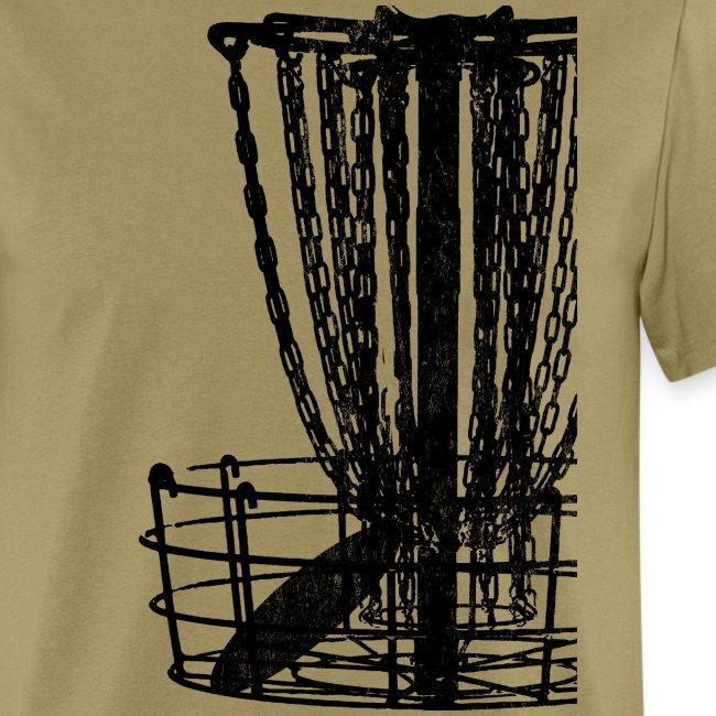 Distressed Disc Golf Basket Shirt Black Print