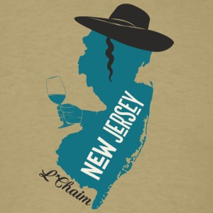 A funny map of New Jersey - Men's T-Shirt