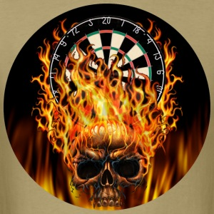 Flaming Skull Darts Shirt - Men's T-Shirt