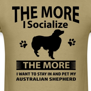 My Australian Shepherd makes me happy - Men's T-Shirt