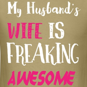 my husband s wife - Men's T-Shirt
