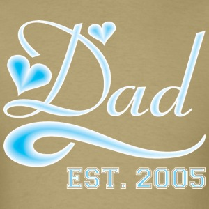 Dad Established 2005 Happy Fathers Day - Men's T-Shirt