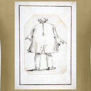 Caricature of a Fat Man, Seen From Behind - Men's T-Shirt