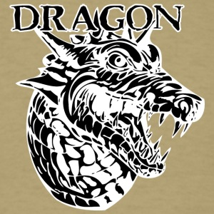 angry_dragon_head_black - Men's T-Shirt