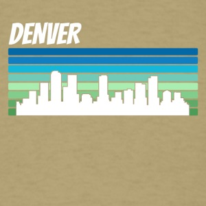 Retro Denver Skyline - Men's T-Shirt