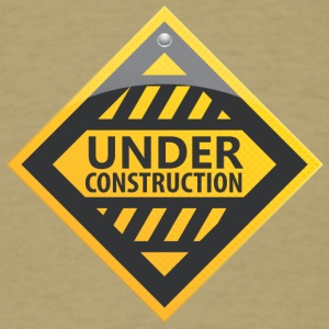 Road_sign_under_construction - Men's T-Shirt
