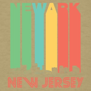 Retro Newark New Jersey Skyline - Men's T-Shirt