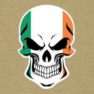 Irish Flag Skull - Men's T-Shirt