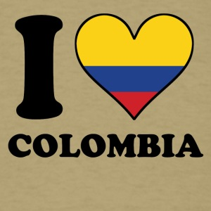 I Love Colombia Colombian Flag Heart - Men's T-Shirt