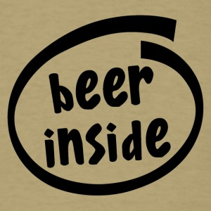 beer inside (1819A) - Men's T-Shirt