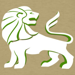 lion_looking_back_green - Men's T-Shirt