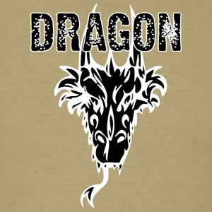 dragon_head_with_horns_black - Men's T-Shirt