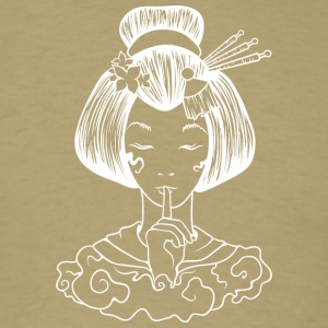 Japanese_geisha_finger_sign_white - Men's T-Shirt