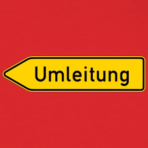 Umleitung Left - German Traffic Sign - Men's T-Shirt