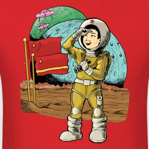 Chinese Space Boy - Men's T-Shirt