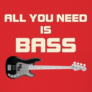 Need bass white color - Men's T-Shirt