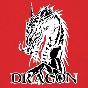 agry_looking_dragon_black - Men's T-Shirt