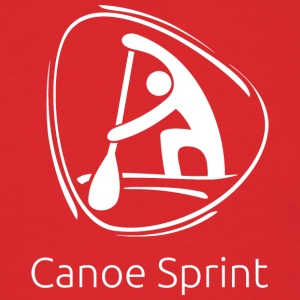Canoe_sprint_white - Men's T-Shirt