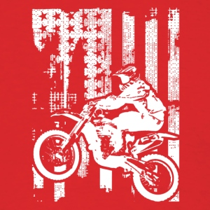 Motocross Flag Shirt - Men's T-Shirt