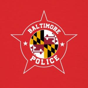 Baltimore Police T Shirt - Maryland flag - Men's T-Shirt