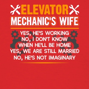 Elevator Mechanic Wife Shirt - Men's T-Shirt