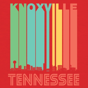 Retro Knoxville Tennessee Skyline - Men's T-Shirt