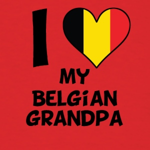 I Heart My Belgian Grandpa - Men's T-Shirt