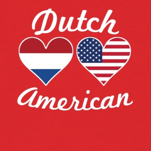 Dutch American Flag Hearts - Men's T-Shirt
