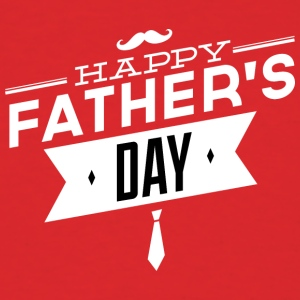 happy_father-s_day_white - Men's T-Shirt