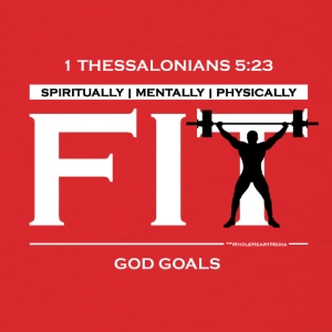 God Goals (white) - Christian Fitness - Men's T-Shirt