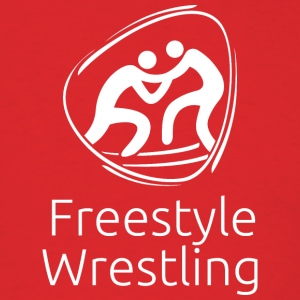 Freestyle_wrestling_white - Men's T-Shirt