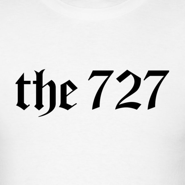 The 727 in Black Lettering