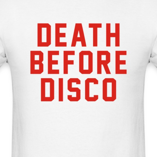 Stripes – Death Before Disco - Men's T-Shirt