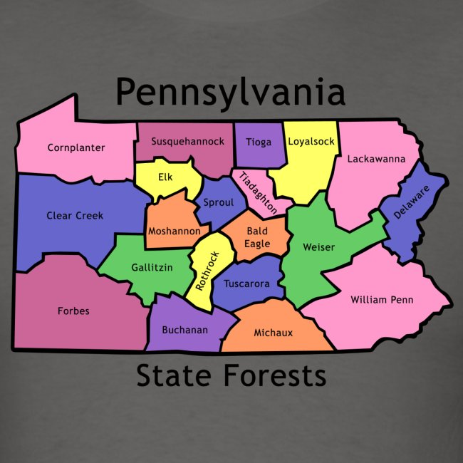 Pennsylvania State Forests Map