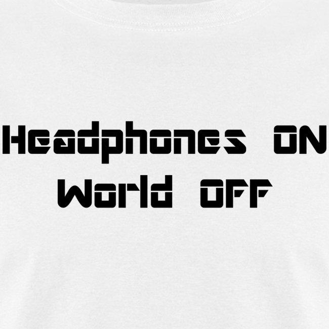 world off black