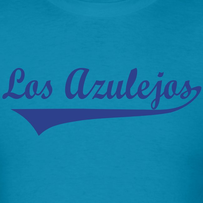 los azulejos text in dark blue 2