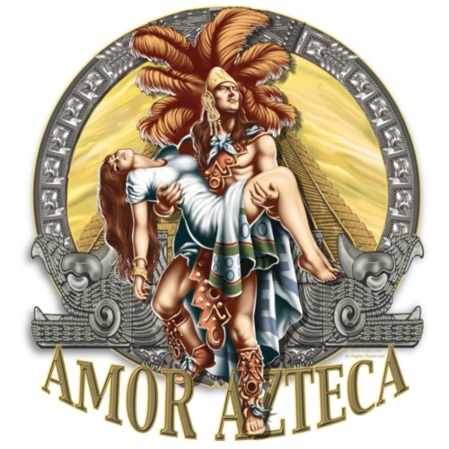 Amor Azteca by RollinLow - Men's T-Shirt