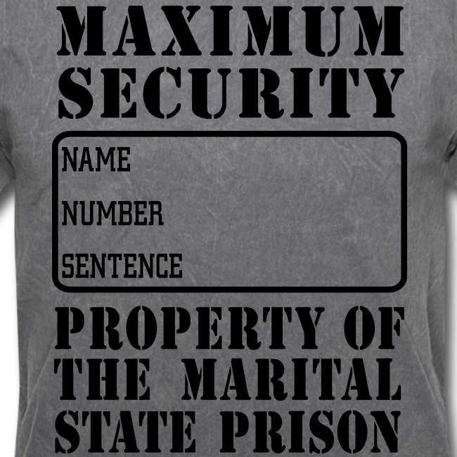 Prisoner, Marriage State Prison, personalize for