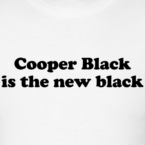Cooper Black is the new black - Men's T-Shirt