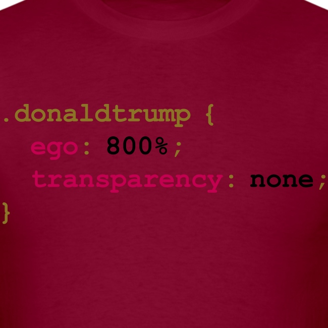 Donald Trump's CSS Style Sheet