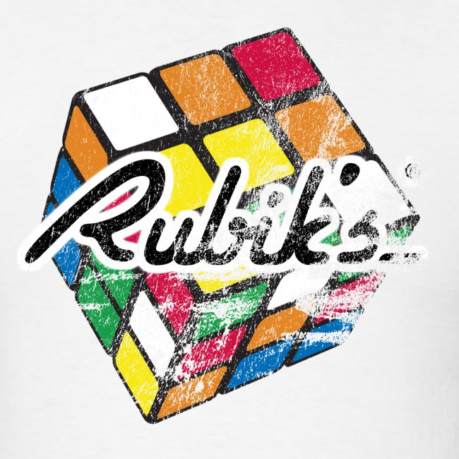 Rubik's Cube Distressed and Faded