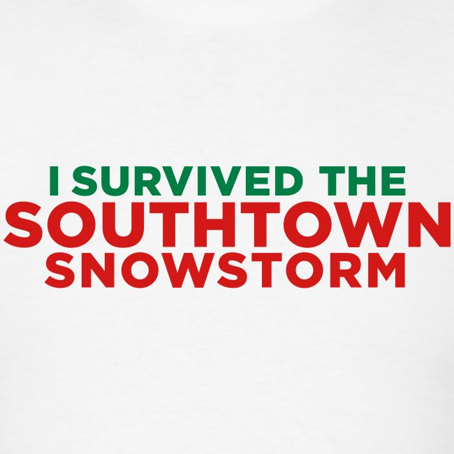 Christmas In Dixie Shirt.I Survived The Southtown Snowstorm Christmas Men S T Shirt