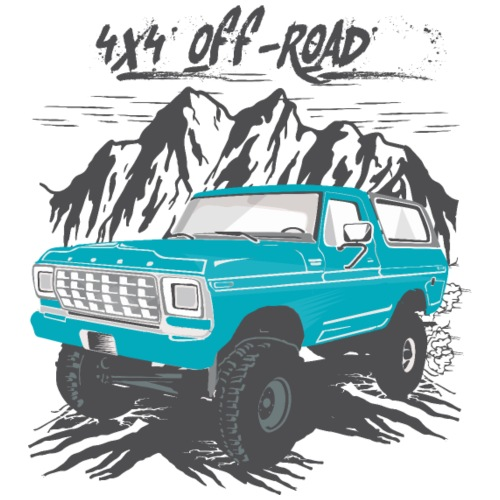 Bronco 4x4 Off-Road White T-shirt - Men's T-Shirt