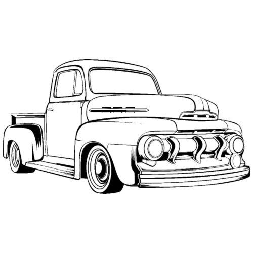 1951 F100 Classic Pickup Truck Men's T-Shirt - Men's T-Shirt