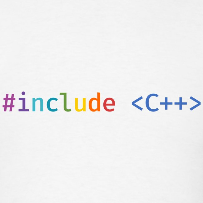 Rainbow Include C++ (Light Background)