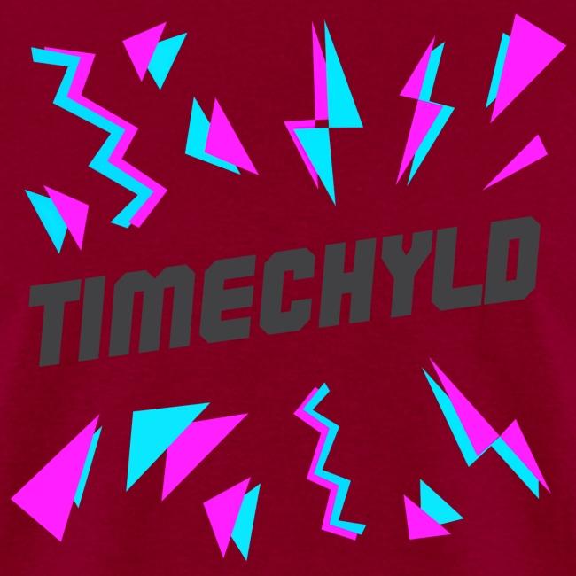 Timechyld Logo with Retro Pattern (Black)