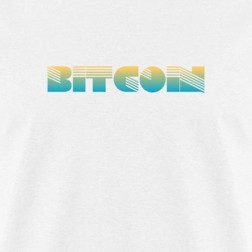 Bitcoin Art Deco Design - Men's T-Shirt