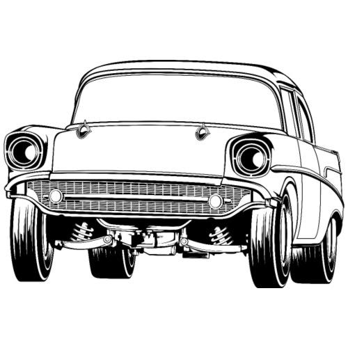 Gasser Up 1957 Chevy Drag Car - Men's T-Shirt