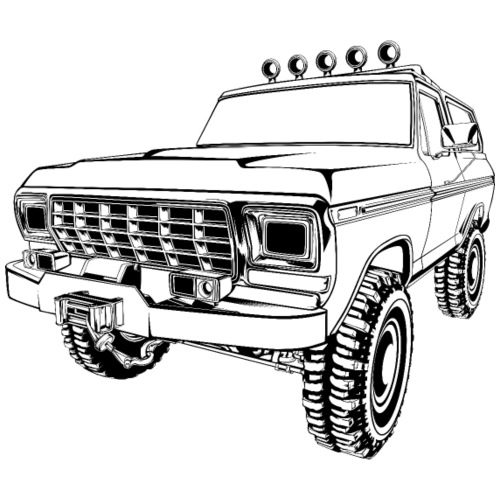 1970 Bronco Truck T-Shirt - Men's T-Shirt